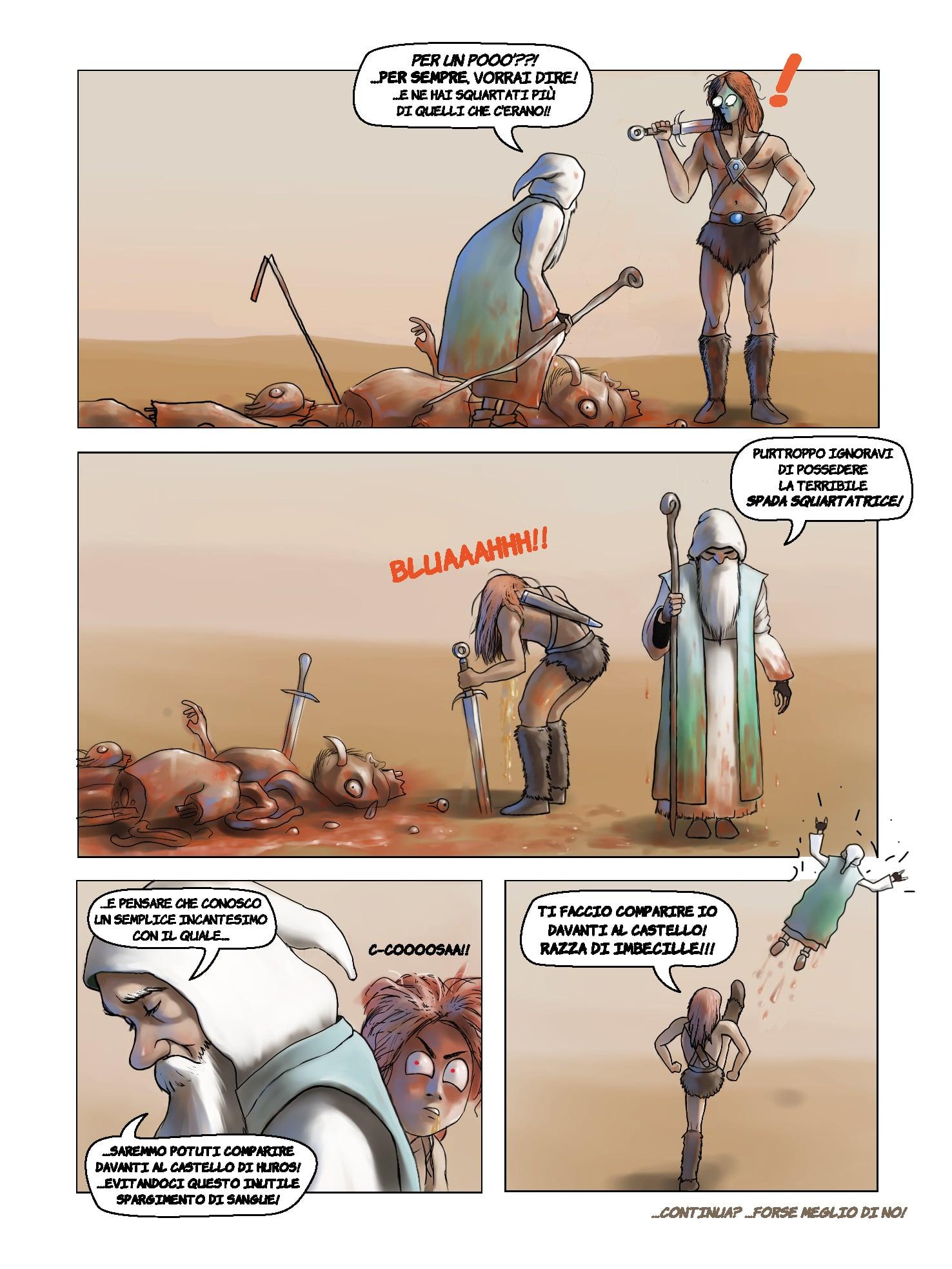 Il guerriero e il mago - La breve avventura di due imbecilli
