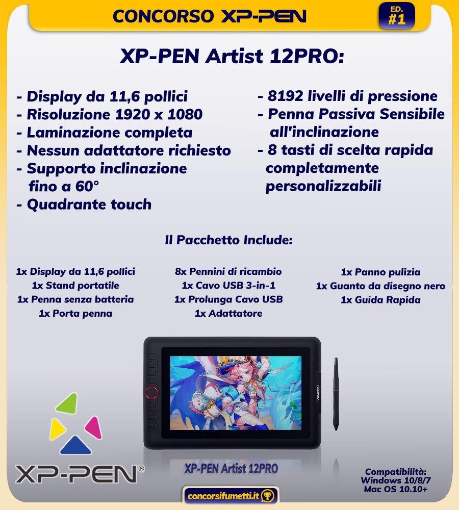 Premio Concorso XP Pen XP-PEN Artist 12PRO